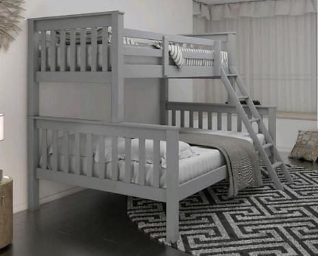 Triple Bunk Bed Grey