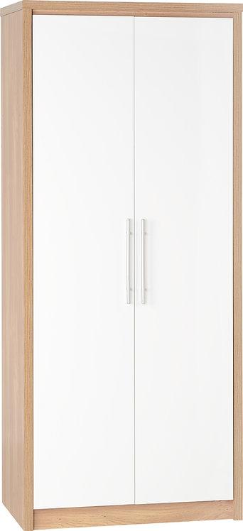 Seville 2 Door Wardrobe - White