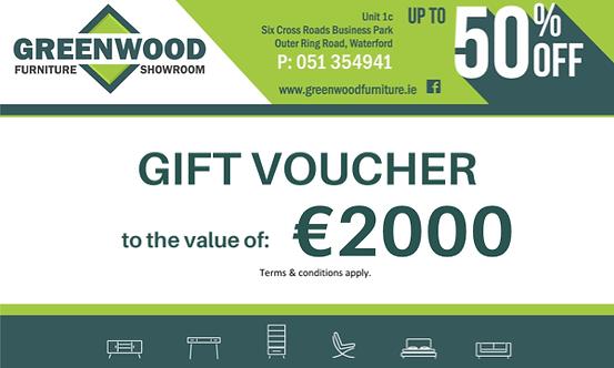 €2000 Gift Voucher