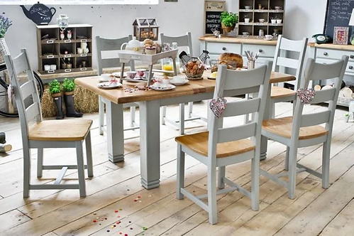 Danube Extendable Dining Set - French Grey