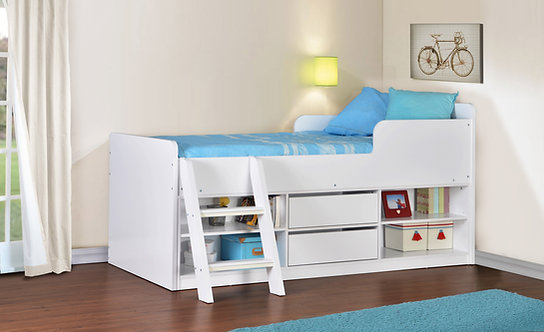 Felix Low Sleeper Bed - White
