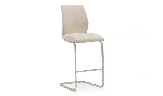 Elis Bar Chair - Chrome Leg Taupe