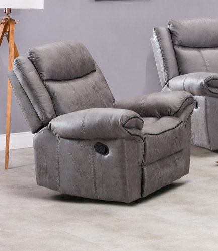 Lisbon Grey 1 Seater Reclining Armchair