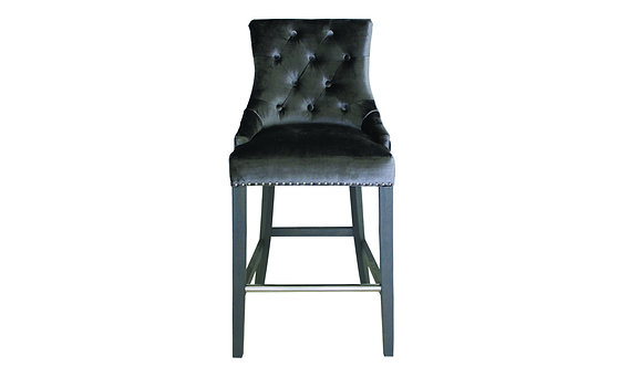 Belvedere Knockerback Bar Chair - Charcoal