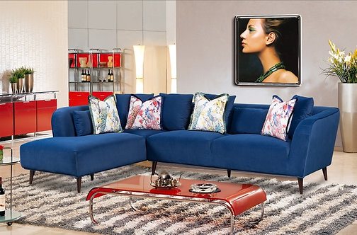 Bradley Corner Sofa - Navy Velvet