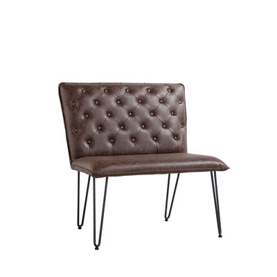 Chicago Studded Back Bench with Hair Pin Legs (190cm)