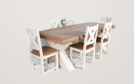 Maximus 1.9m Dining Set - White