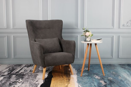 Megan Accent Chair - Grey