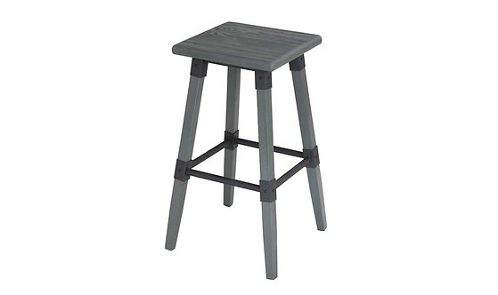 Lock Bar Stool - Grey