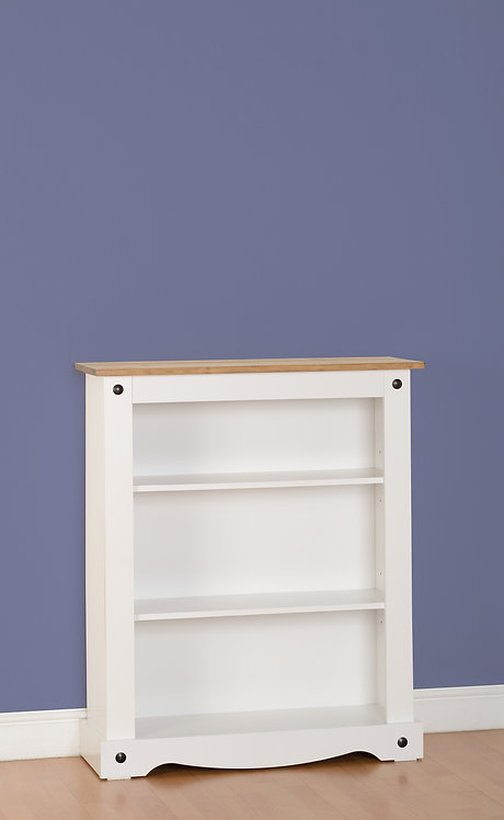 Corona Low Bookcase - White