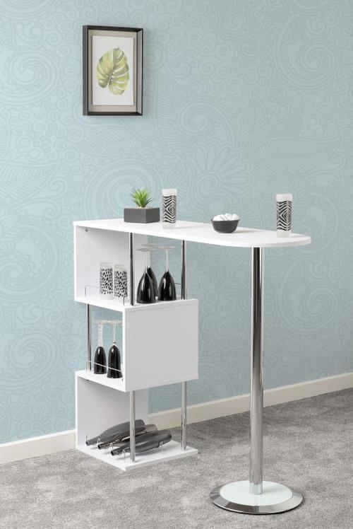 Charisma Bar Table - White