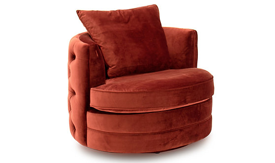Jools Swivel Chair - Copper