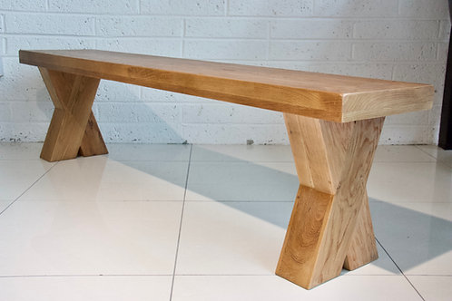 Maximus Solid Oak Bench