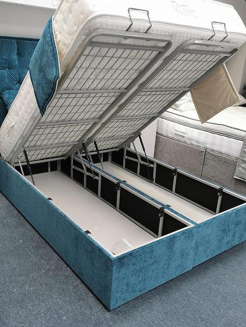 """Venus Storage Bed & Carlton 56"""" Floor Standing Headboard Set"""
