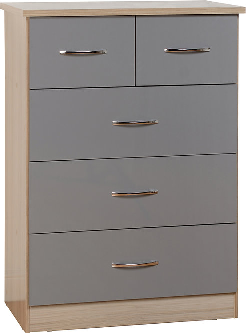 Nevada 3 & 2 Drawer Chest - Grey