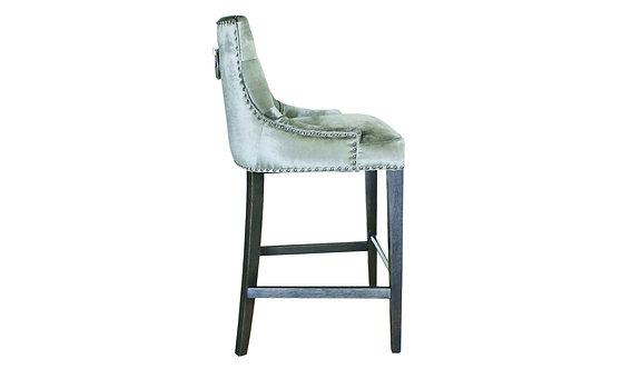 Belvedere Knockerback Bar Chair - Pewter