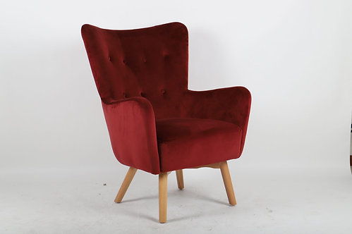 Malibu Red Accent Chair