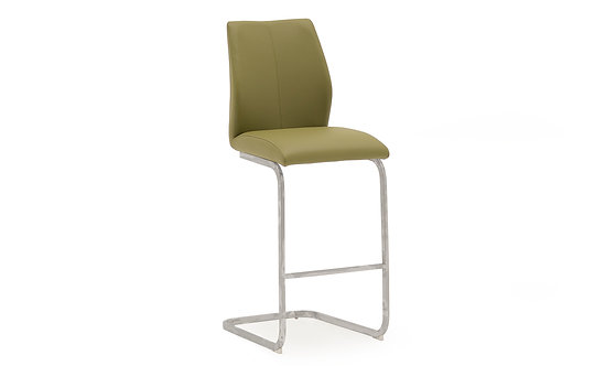 Elis Bar Chair - Chrome Leg Olive