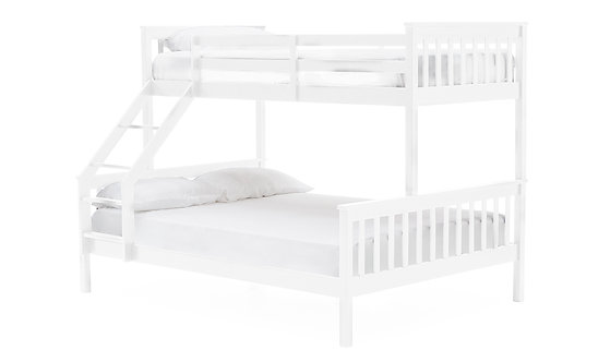 Salix Bunk Bed - 3FT & 4FT6 White
