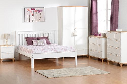 Monaco Bedframe - 5FT Low End - White