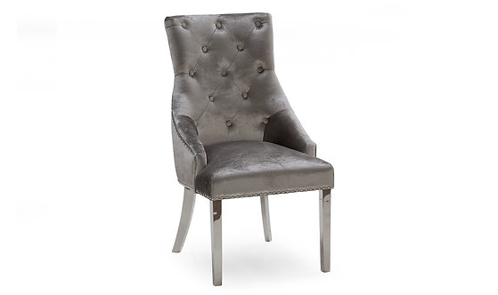 Belvedere Dining Chair - Pewter
