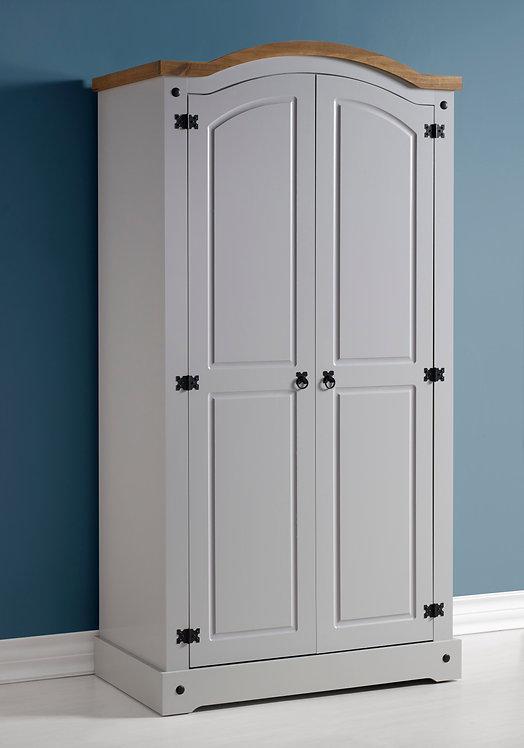 Corona 2 Door Wardrobe - Grey