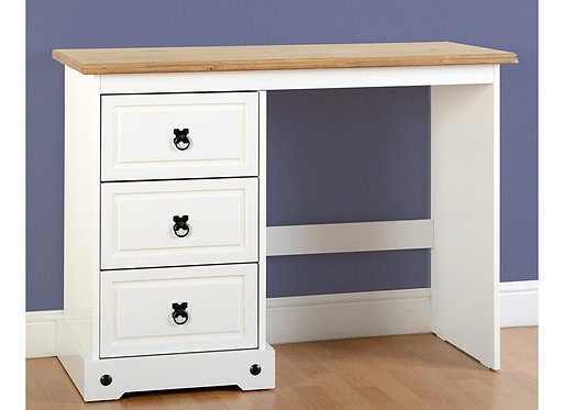 Corona 3 Drawer Dressing Table - White