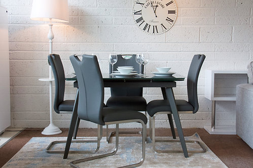 Sabina Extending Dining Set with 6 Lazzaro Chairs