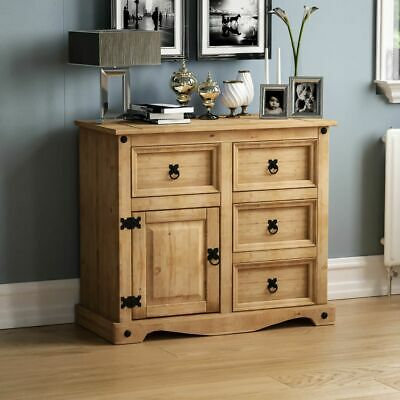 Corona 4 Drawer 1 Door Sideboard