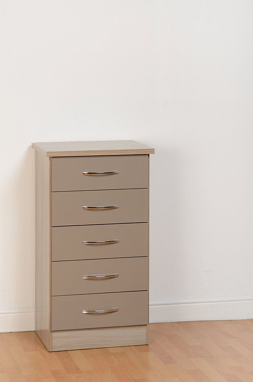 Nevada 5 Drawer Narrow Chest - Oyster