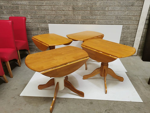 Brecon Round 90cm Drop Leaf Table