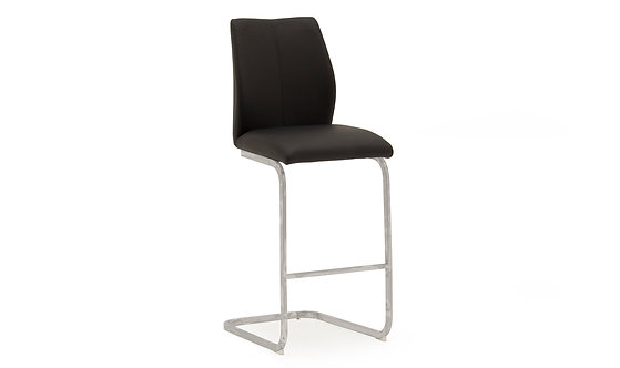 Elis Bar Chair - Chrome Leg Black