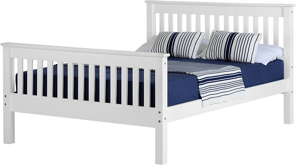 Monaco Bedframe - 5FT High End - White