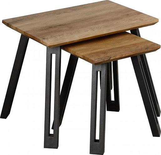 Quebec Nest of Tables - WAVE OR STRAIGHT EDGE