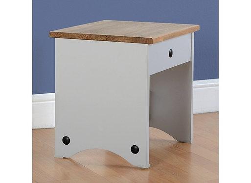 Corona Dressing Table Stool - Grey