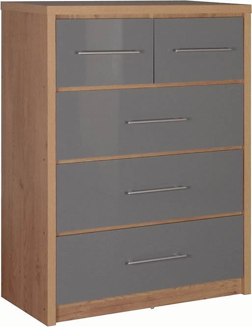 Seville 3 & 2 Drawer Chest - Grey