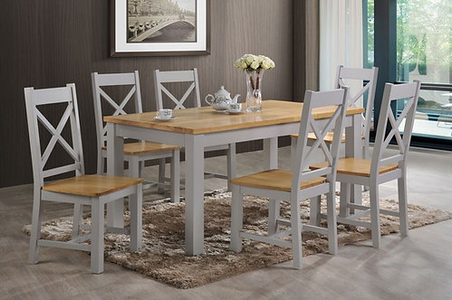 Rochester 5' Dining Set French Grey