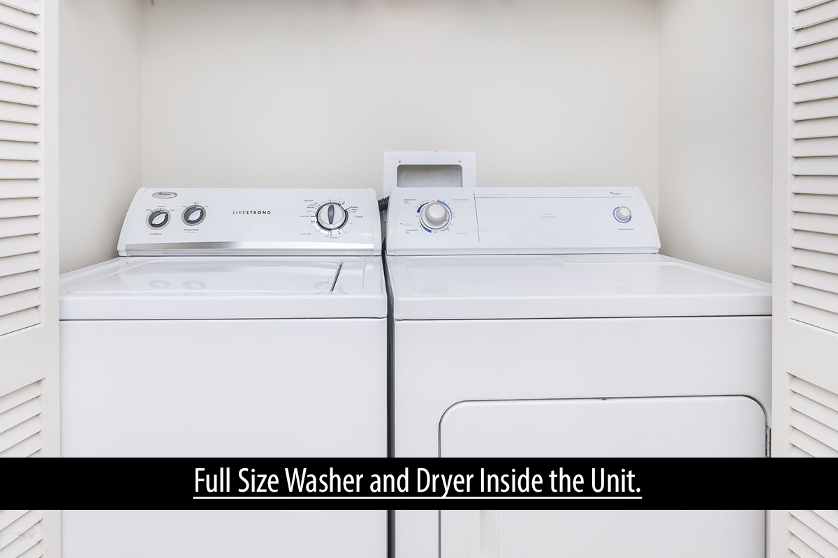 18 washer and dryer