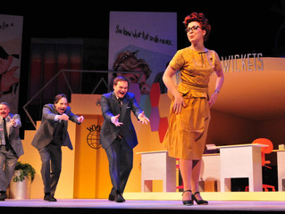 """""""How To Succeed"""" at Playhouse is sheer, total, unadulterated, sparkling, ambitious entertainment"""