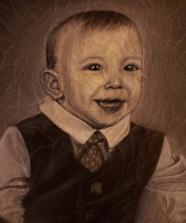 Antiqued Charcoal Portrait