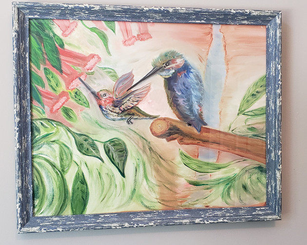 Oil on unstretched canvas-Framed