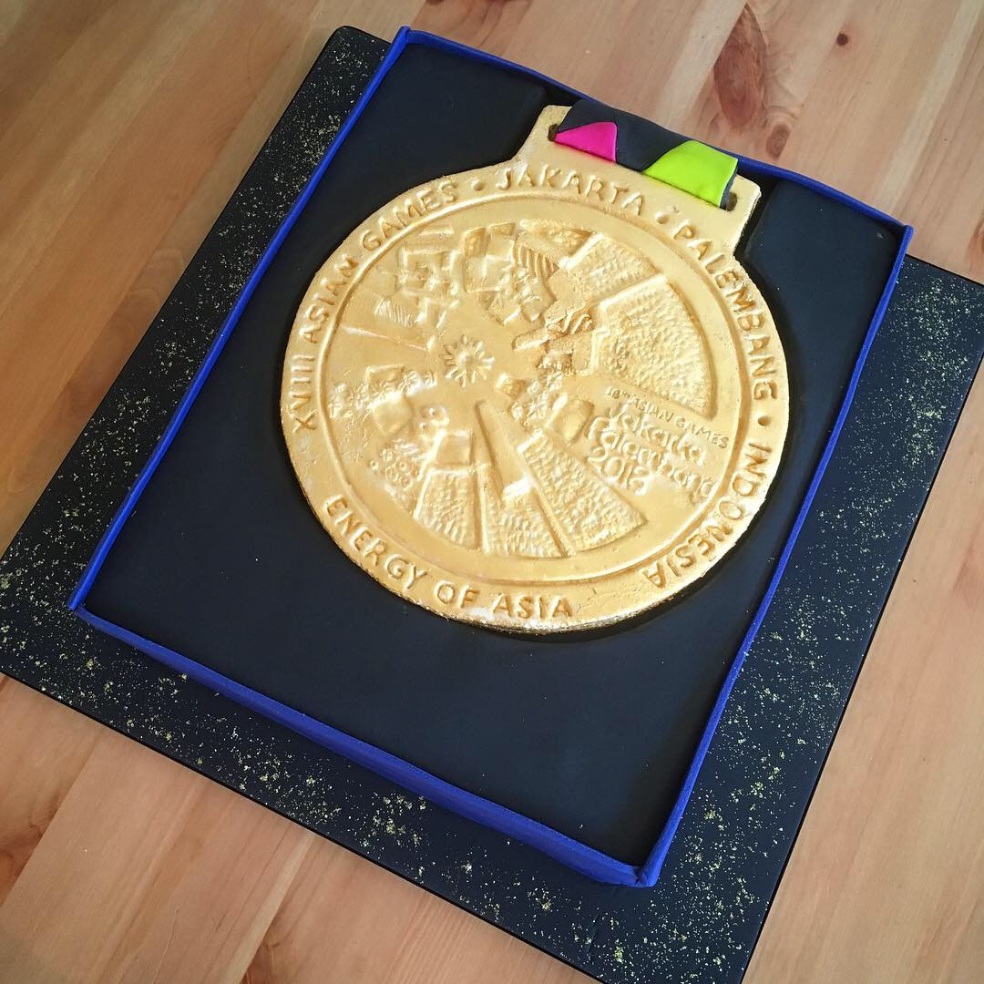 Aisian Games Gold Medal Cake