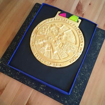 Aisian Games Gold Medal Cake