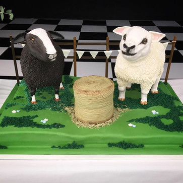 3D Sheep Wedding Cake