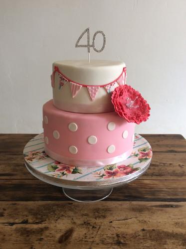 Bunting Birthday Cake 5.JPG