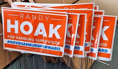 Get Your Hoak for Hamburg Supervisor Yard Sign!