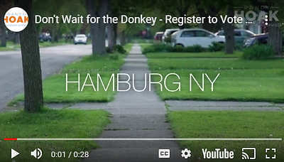 Don't Wait for the Donkey - Register to Vote Today!