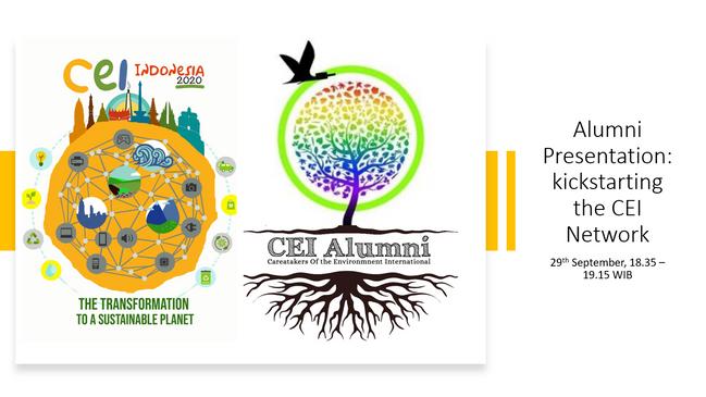 Alumni Presentation: Kickstarting the CEI Network