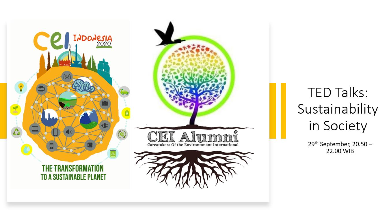 CEI Talks: Sustainability in Society