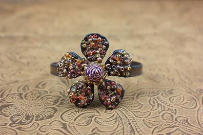 Vintage Flower Power Cuff Bracelet